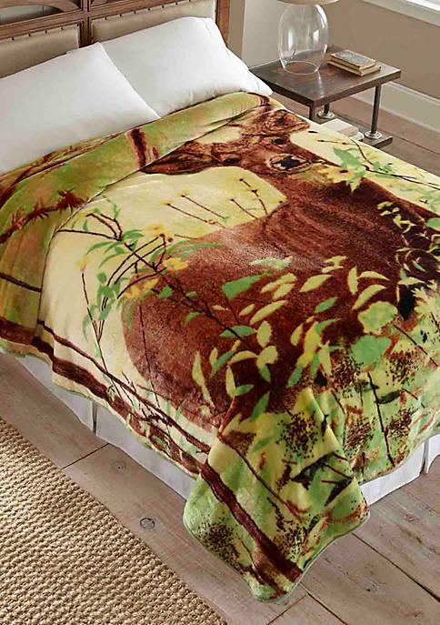 Hi Pile Luxury Oversized Coverlet   Deer