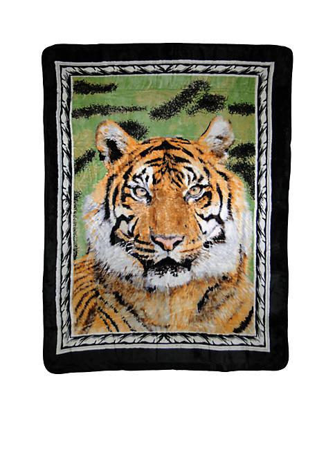 Hi Pile Luxury Oversized Coverlet Tiger