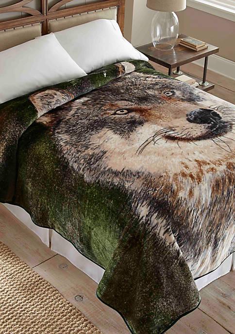 Hi Pile Luxury Oversized Coverlet   Wolf