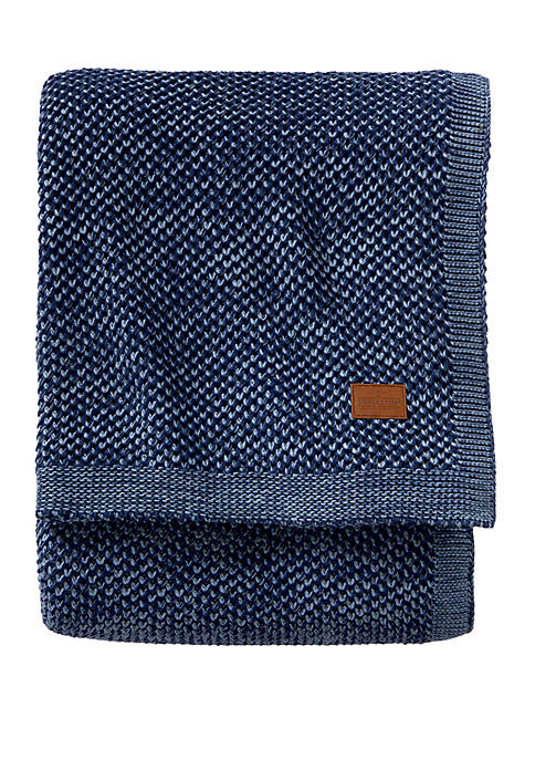 2 Tone Knit Blanket