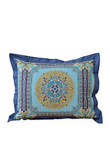 Blue Riviera Medallion Square Decorative Pillow 16-in. x 16-in.