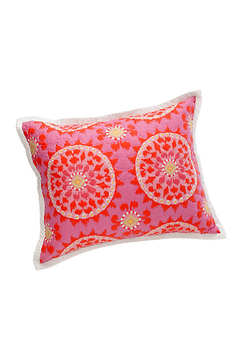 Ikat Blossom Pink Standard Sham 20-in. x 26-in.