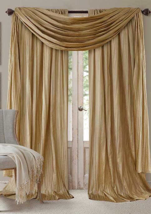 Elrene Athena Faux Silk Window Curtain and Scarf