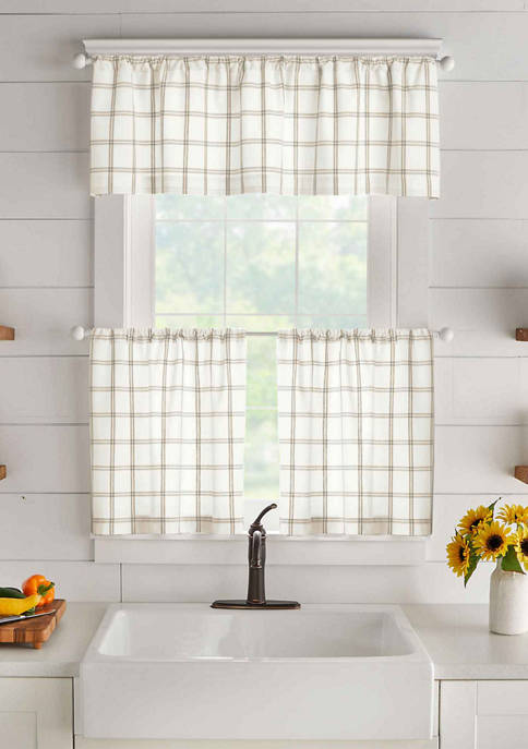 Farmhouse Living Double Windowpane Plaid Valance