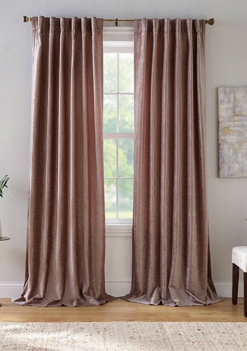 Elrene Carnaby Rustic Vogue Distressed Velvet Window Curtain