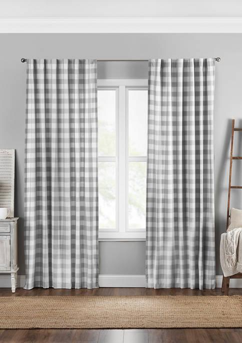Elrene Farmhouse Living Buffalo Check Window Curtain Panel
