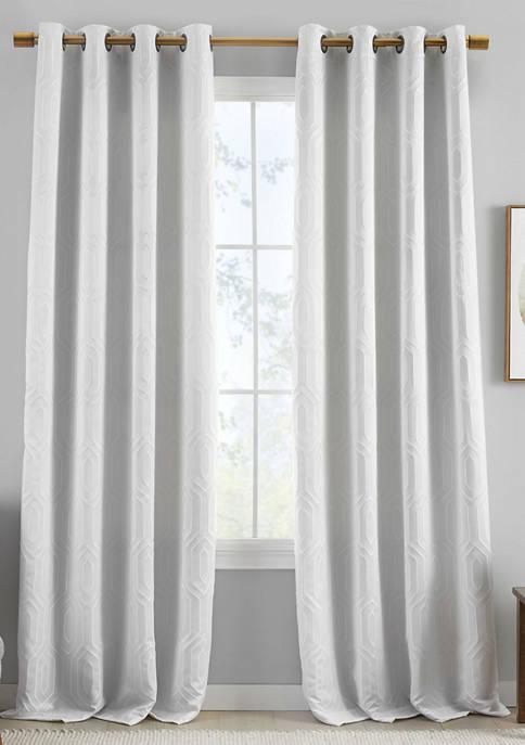 Elrene Huxley Geometric Blackout Embroidered Textured Window
