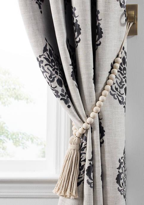 Elrene Nomad Decorative Wooden Fringe Tassel Window Curtain