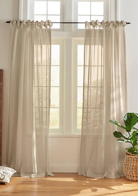Elrene Vienna Tie Top Cottage Core Sheer Window