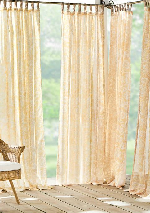 Elrene Verena Floral Indoor/Outdoor Sheer Tab Top Window