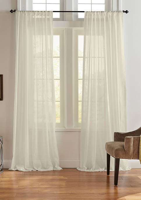 Elrene Asher Cotton Voile Cottage Core Sheer Window