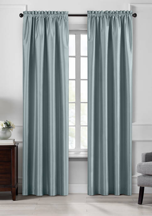 Elrene Colette Faux Silk Blackout Window Curtain Panel