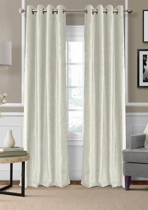 Victoria Velvet Room Darkening Window Curtain Panel