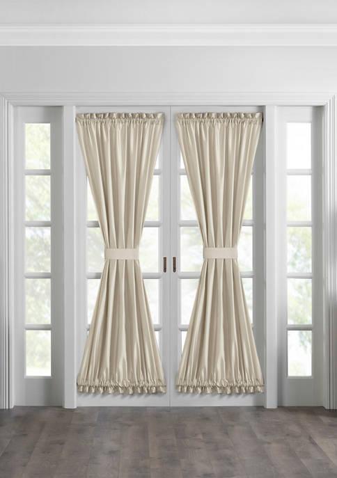 Elrene Colette Faux Silk French Door Window Panel