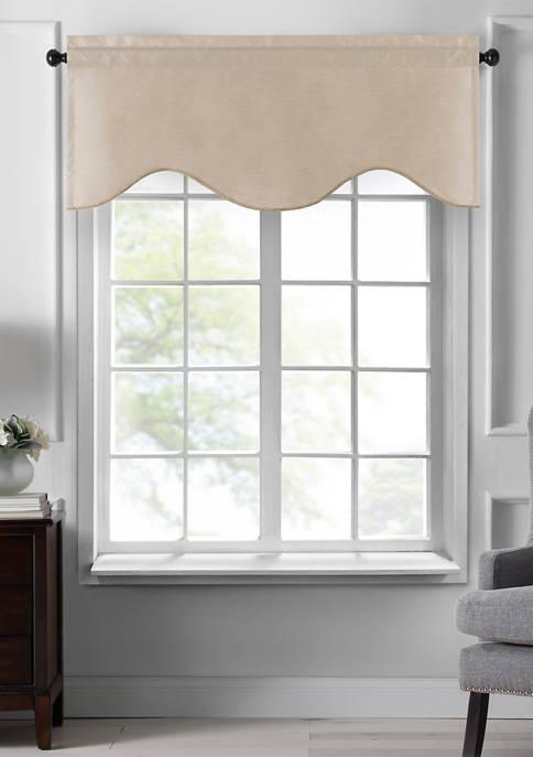 Elrene Colette Faux Silk Scalloped Window Valance