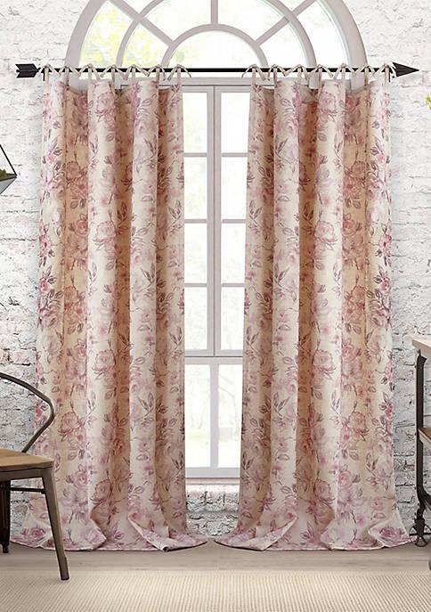 Elrene Annalise Tie Top Single Window Panel