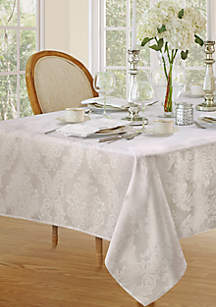 Barcelona Damask Oblong Fabric Tablecloth