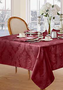 abc85bdb0120 Dahlia Blooms Table Runner · Elrene Barcelona Damask Oblong Fabric  Tablecloth