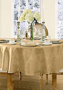 Elrene Barcelona Damask Round Tablecloth