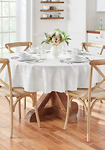 Elegance Plaid Round Tablecloth