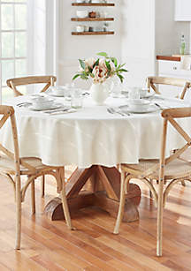 Elrene Elegance Plaid Round Tablecloth