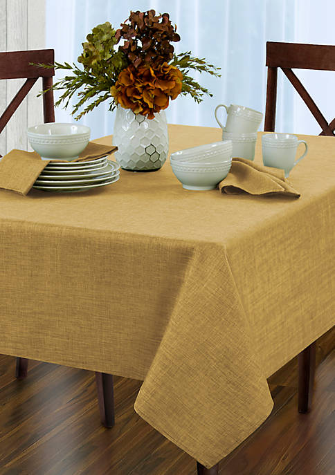 Lenox 174 French Perle Linen Oblong Tablecloth 60 In X 84 In