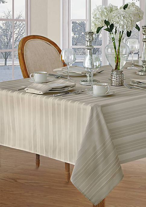 Elrene Denley Stripe Oblong Tablecloth