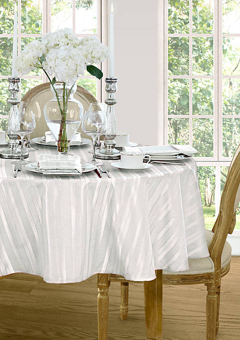 Denley Stripe Round Tablecloth