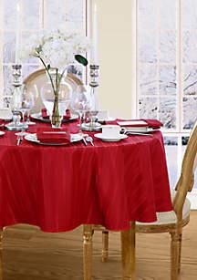 Elrene Denley Stripe Round Tablecloth
