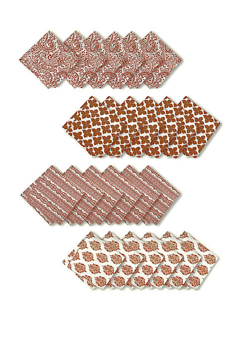 Elrene Everyday Casual Prints Assorted Cotton Fabric Napkins