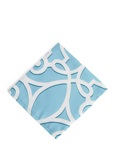 Elrene Chase Geometric Stain Resistant Indoor Outdoor Napkin