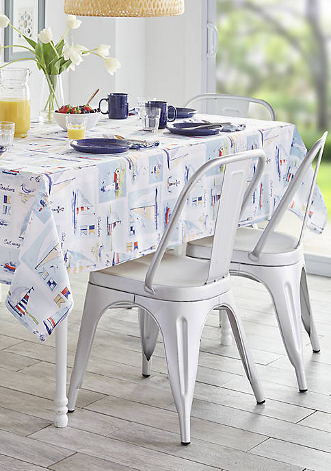 Elrene Sail Away Stain Resistant Indoor Outdoor Tablecloth
