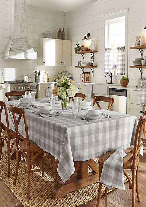 Elrene Farmhouse Living Buffalo Check Tablecloth