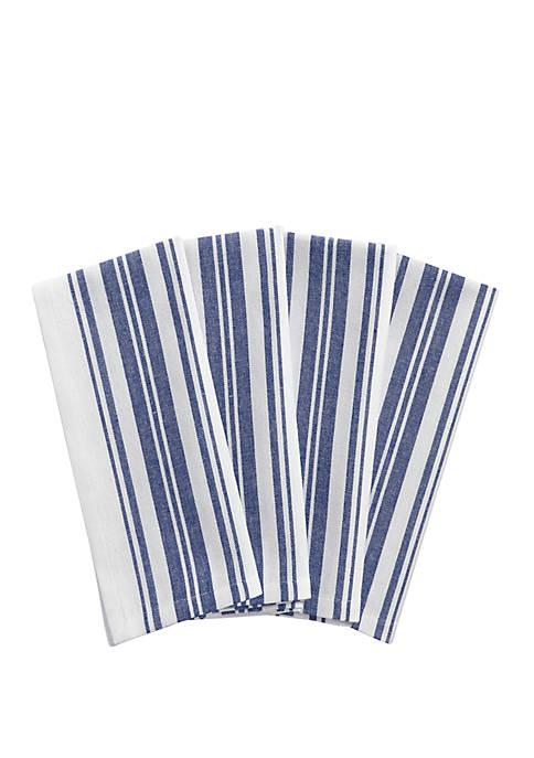Elrene Farmhouse Living Homestead Stripe Napkins, Set of