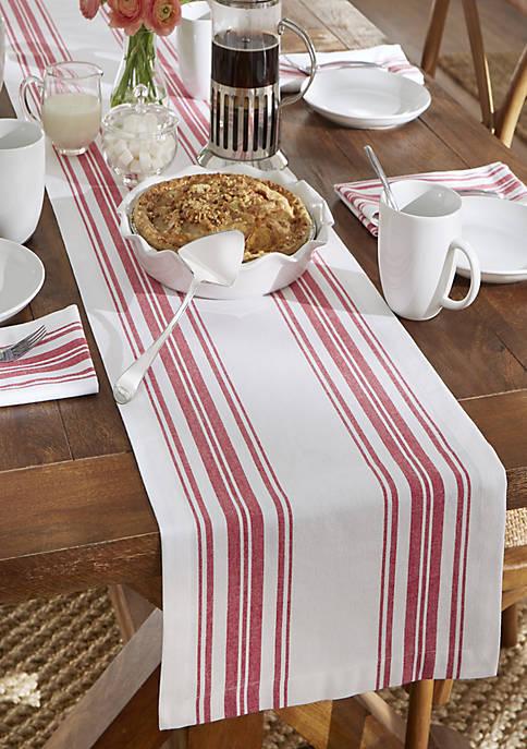 Elrene Farmhouse Living Homestead Stripe Table Runner
