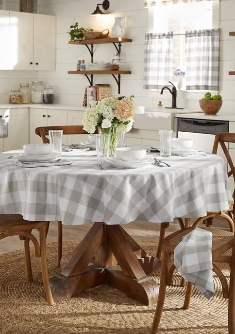 Elrene Farmhouse Living Buffalo Check Tablecloth Collection