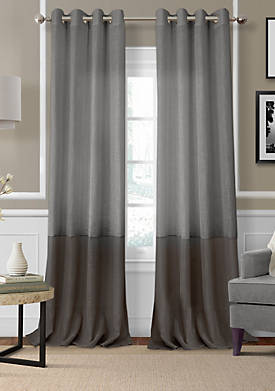 Melody Sheer Colorblocked Grommet Window Panels 52-in. x 95-in.