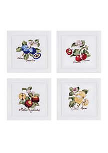 Villeroy & Boch French Garden Cocktail Napkin Set of 4