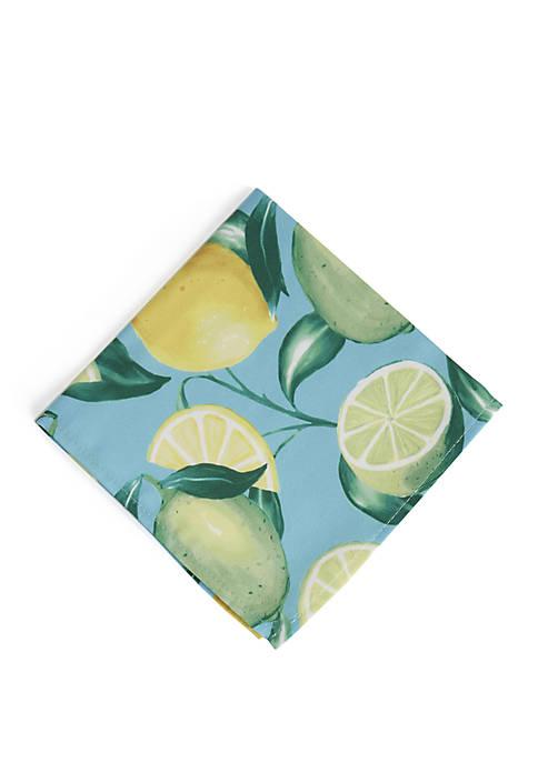 Elrene Lemon Grove Stain Resistant Indoor Outdoor Napkin