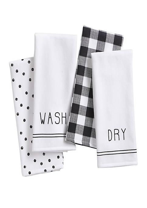 Elrene Farmhouse Living Sentiments Kitchen Towels, Set of
