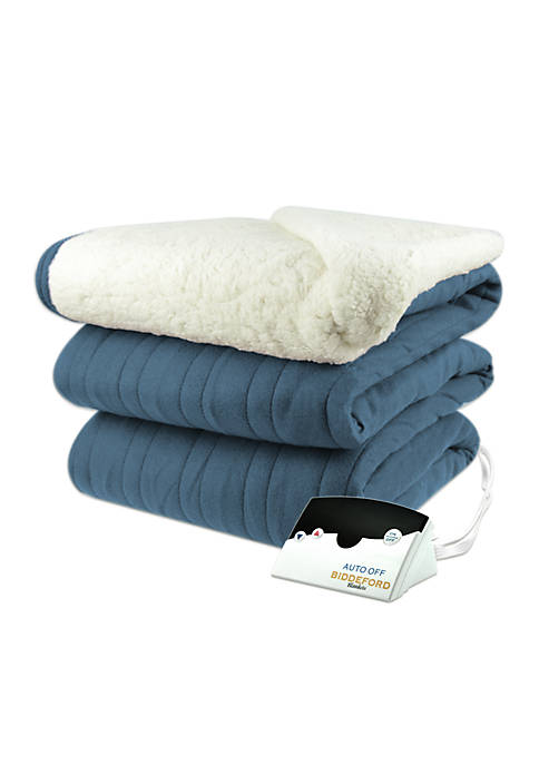 Biddeford Comfort Knit Sherpa Digital Heated Blanket