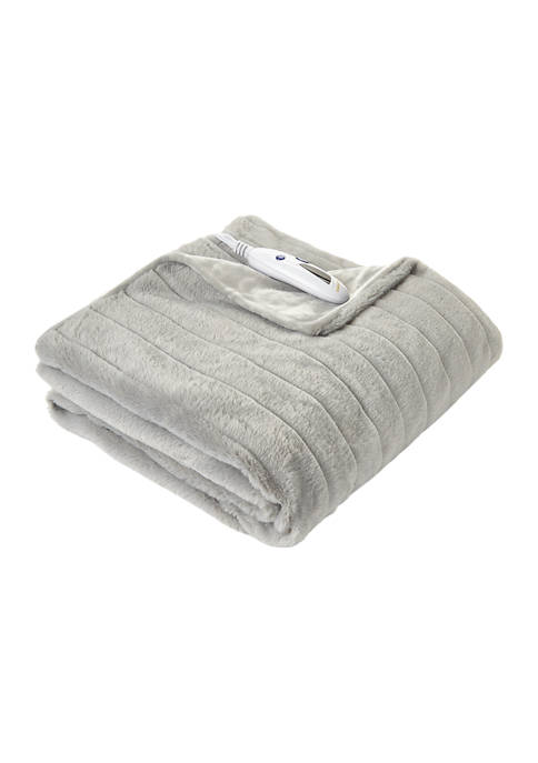 Biddeford Super Soft Velour Fur Throw