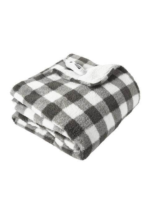 Biddeford Super Soft Velour With Sherpa Back Throw