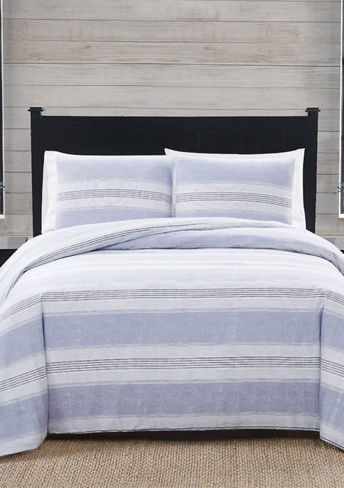 American Traditions™ Stripe Flannel Comforter Set
