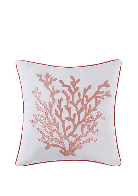Oceanfront Resort Cove 18 in Square Decorative Pillow