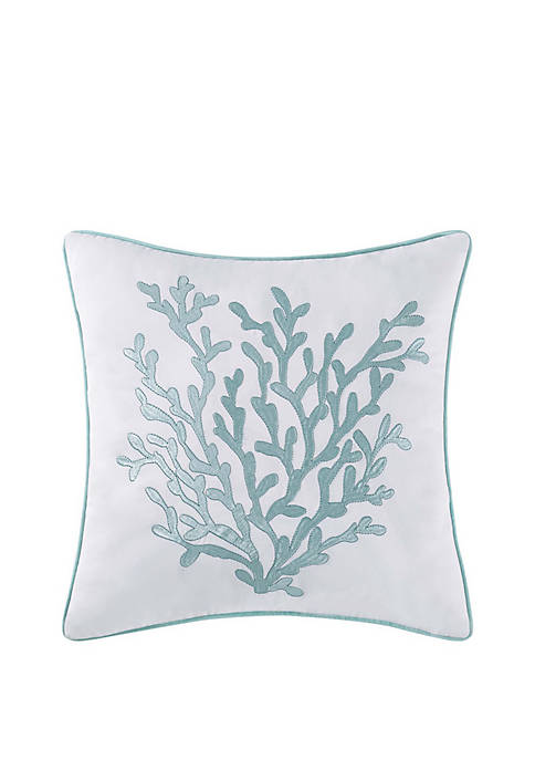 Oceanfront Resort Cove 18 in Square Decorative Pillow
