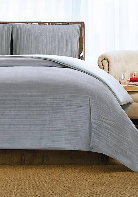 Crinkle Velvet Duvet Set