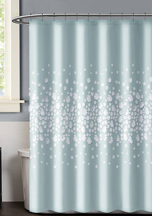Confetti Flowers Shower Curtain