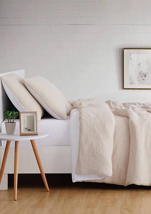 Brooklyn Loom Solid Woven Matelasse Duvet Set