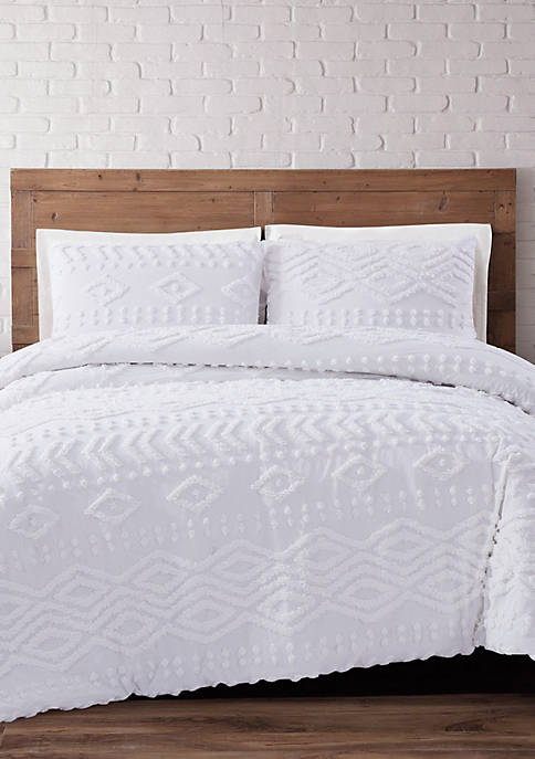 Brooklyn Loom Jameson Tufted Chenille Duvet Set